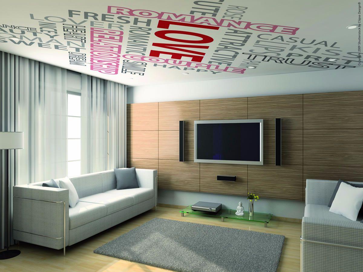 spanplafond met een print